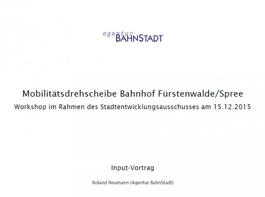 Deckblatt Vortrag Bahnstadt