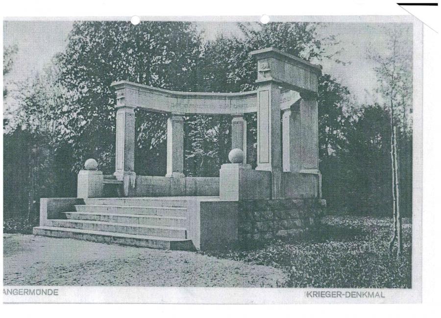 Denkmal Opfer I. WK Tangermünde Hans Dammann