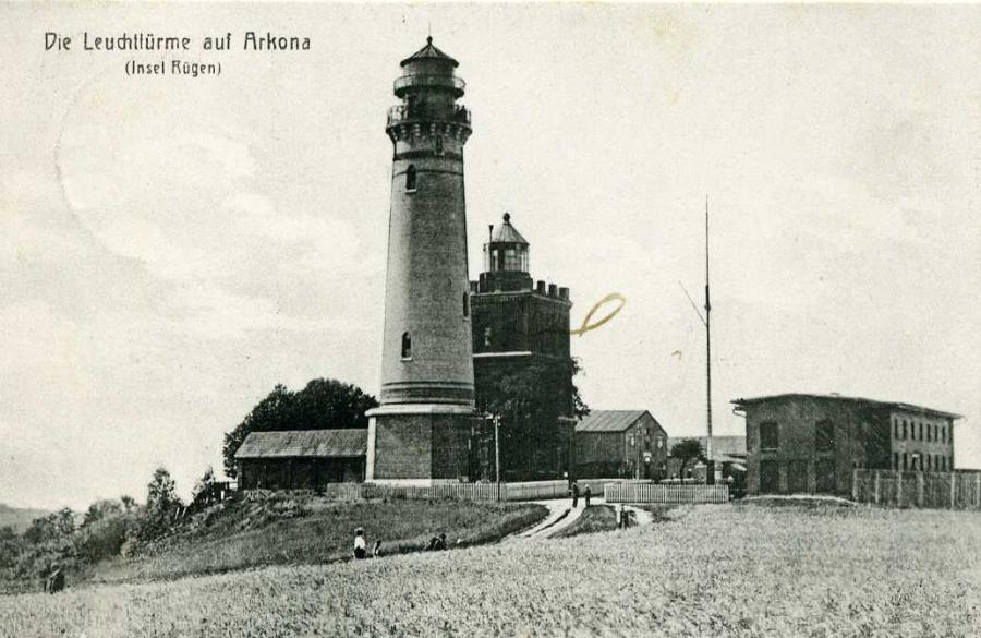 Der Leuchtturm auf Arkona Insel Rügen