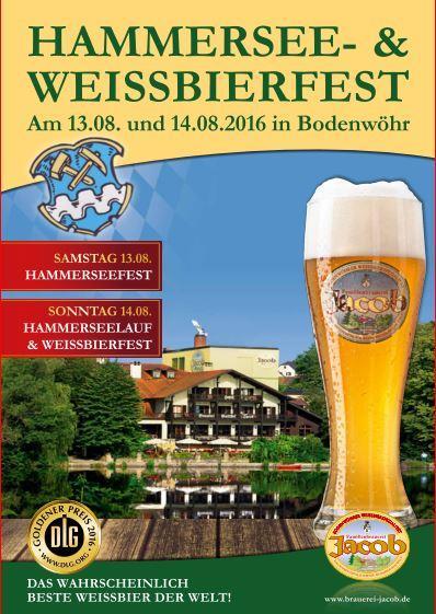 Das Plakat zum Hammersee- und Weissbierfest