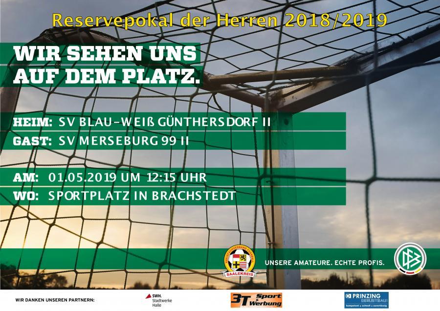 Plakat Reservepokal 2018/2019