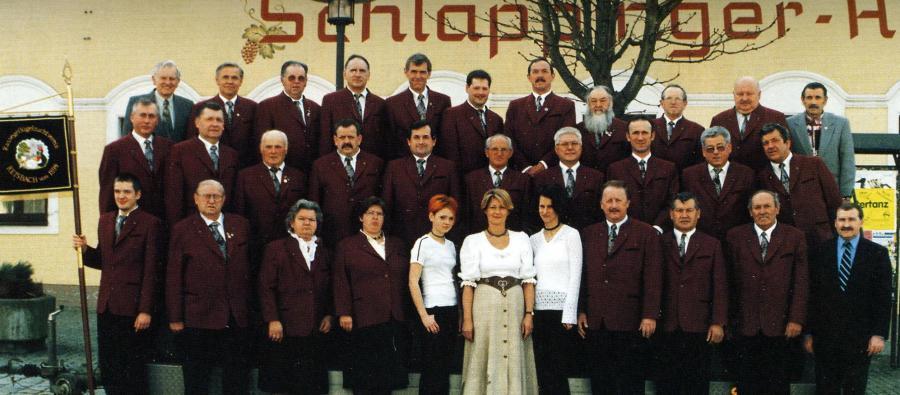 Die aktiven Mitglieder des RGZV Reisbach auf der Jahreshauptversammlung 1999