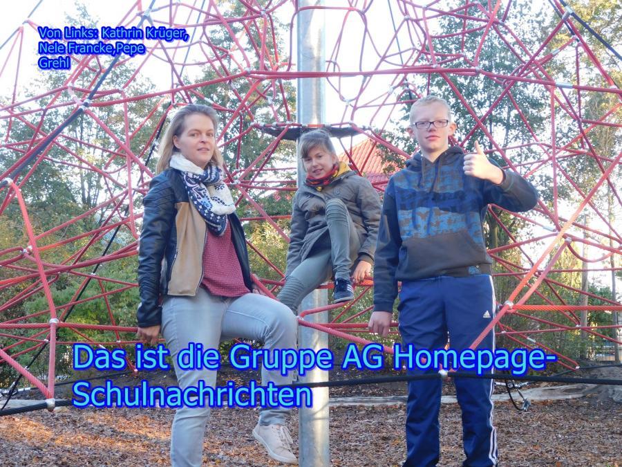 hier ist die gruppe der AG homepage schulnsvrichten