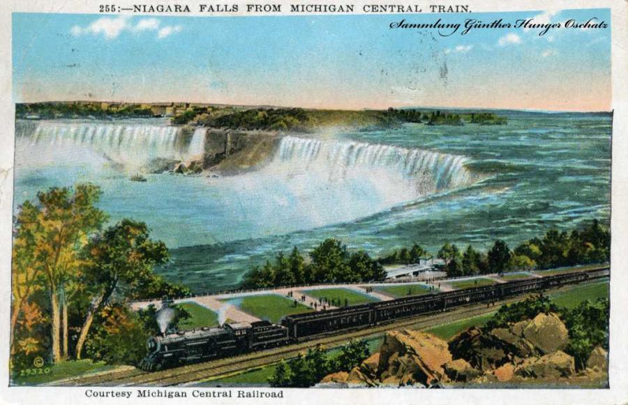 Die Niagarafälle USA mit Eisenbahn