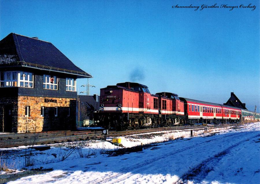 Wintersportzug aus Dresden Bespannt mit 2 x BR 202
