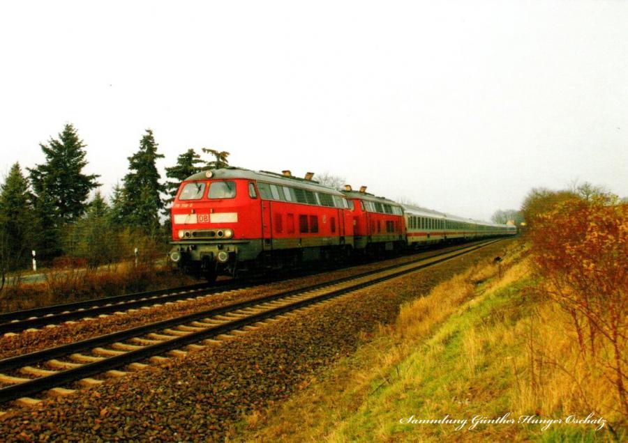 Diesellokomotiven 218 + 218 358