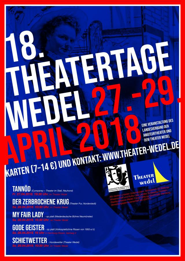 Plakat Theatertage Wedel
