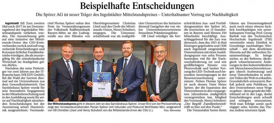 Grafik DK-Artikel Mittelstandspreis 2019