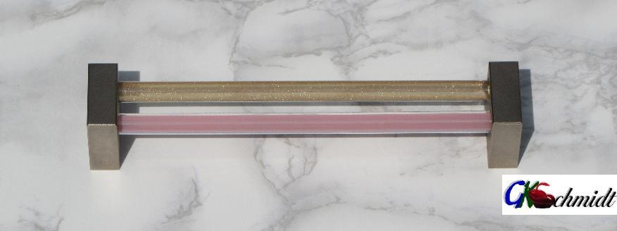 Doppelstab Griff geschlossene Halterung, Goldfluss-Seide