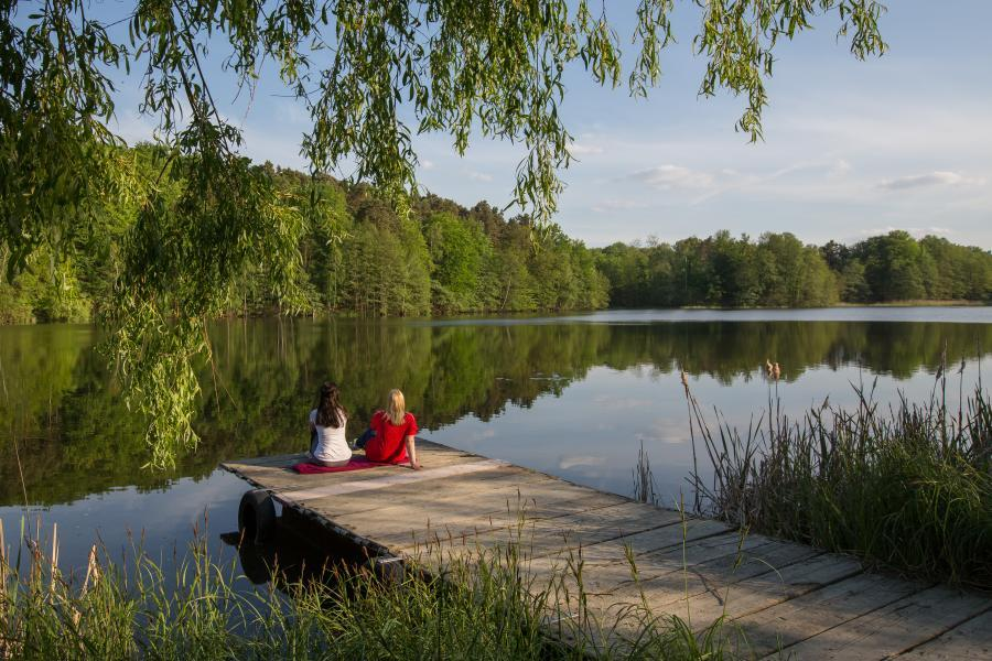 Dorcheteich, Schwerzko, Steg, Pause, Wasser, Seenland Oder-Spree, Foto Florian Läufer
