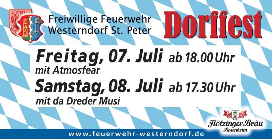 Dorffest Feuerwehr Westerndorf St. Peter 2017