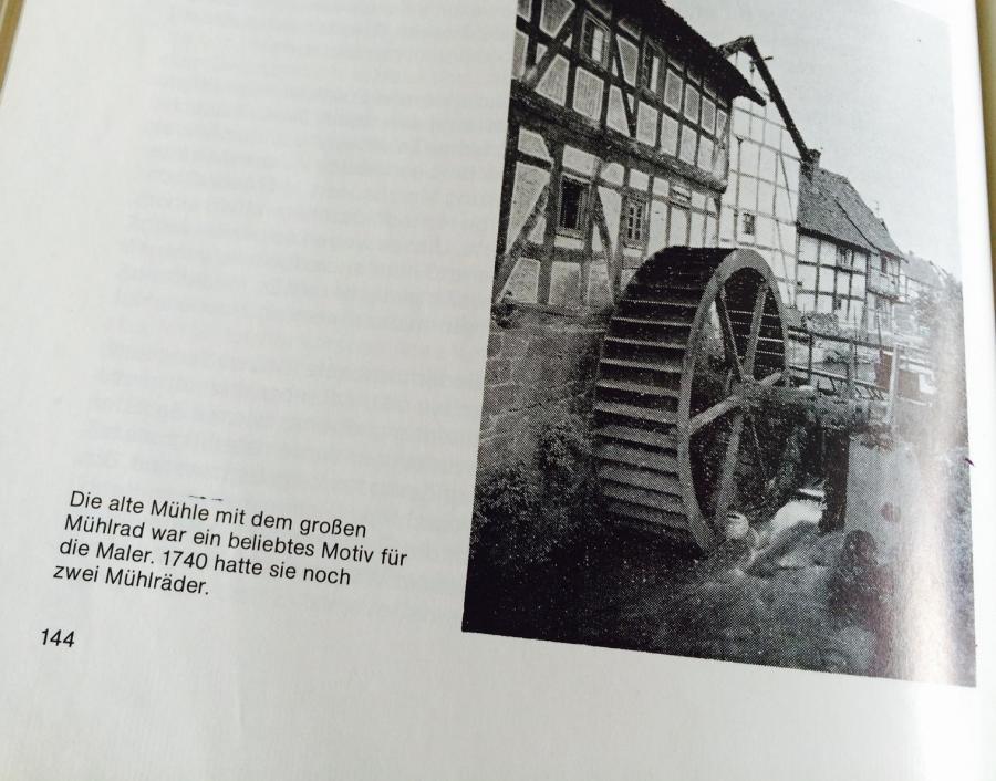 Mühlrad der Dorfmühle