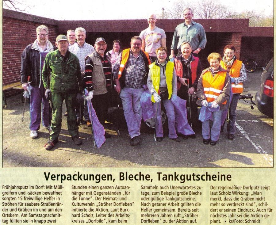 Zeitungsausschnitt Dorfputz 2014