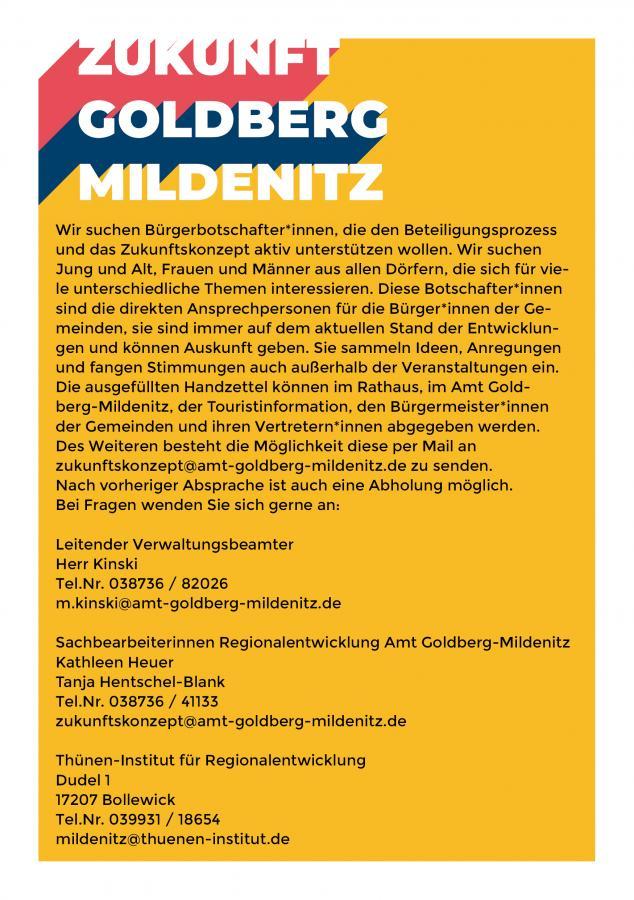 """""""Zukunftskonzept Goldberg-Mildenitz"""""""