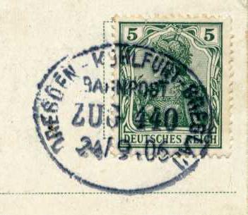 Dresden Bahnpost Zug 440 1905