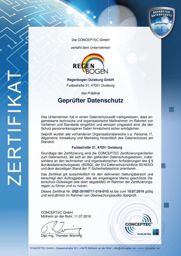 Datenschutz-Zertifikat