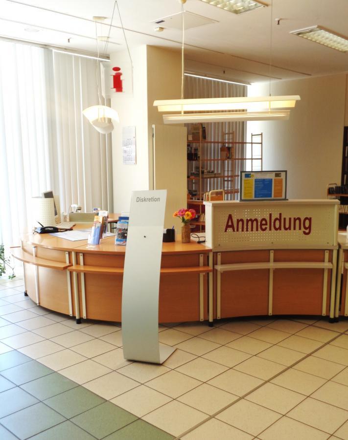 Anmelde-Bereich in der Zentral-Bibliothek