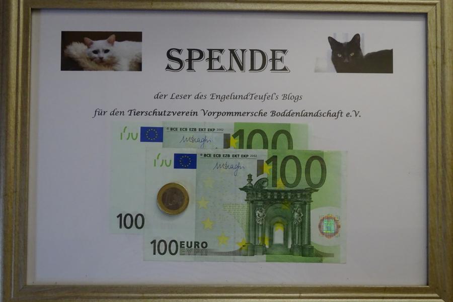 Geldspende-Bilderrahmen