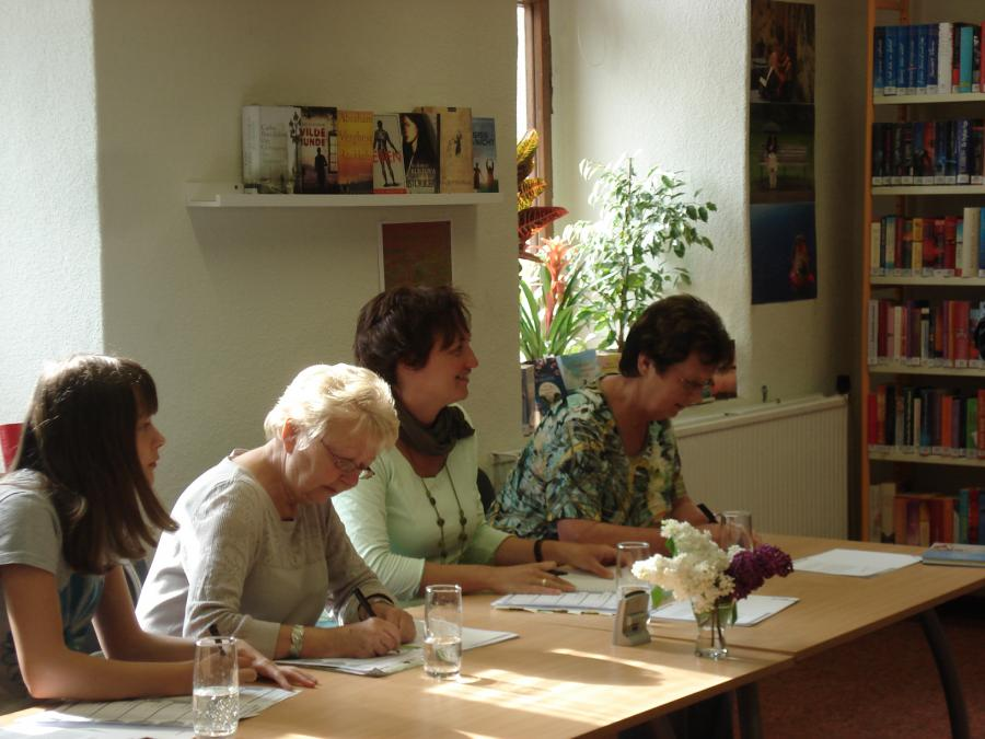 Die Jury während des Wettbewerbs