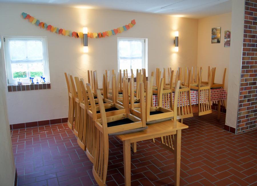 Sitzmöglichkeiten im Backhaus