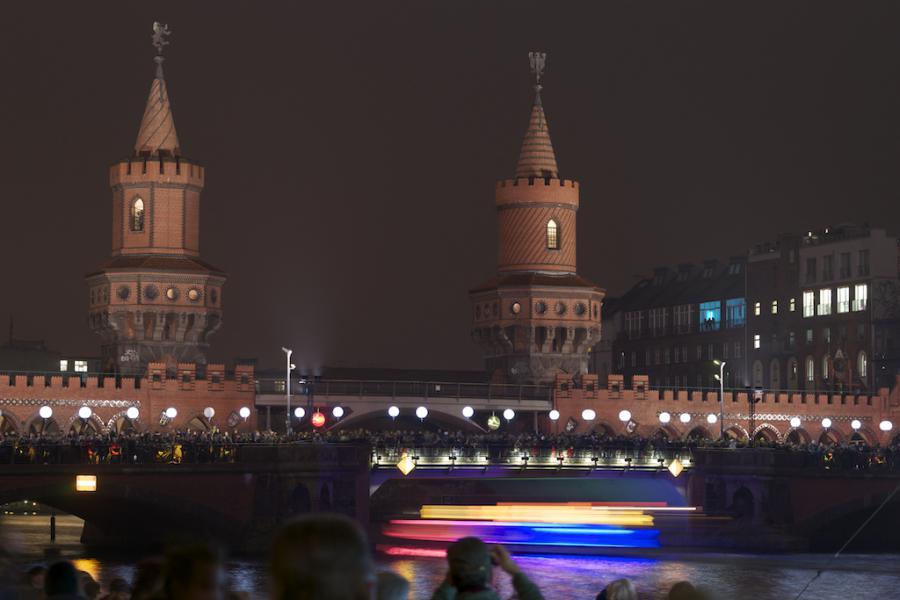 Oberbaumbrücke, 9.11.2014