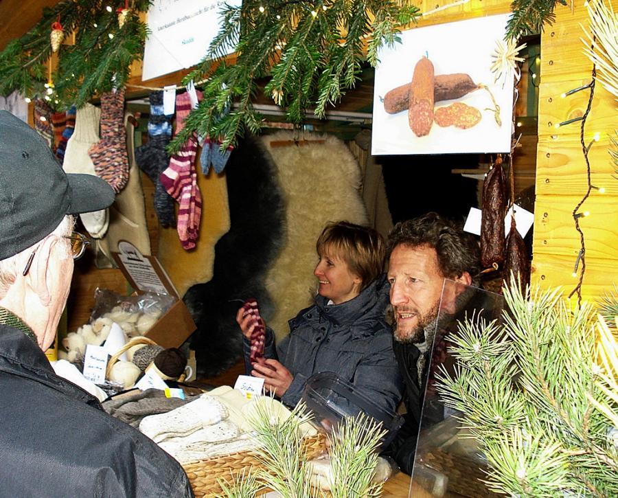 auf dem Weihnachtsmarkt Nauen