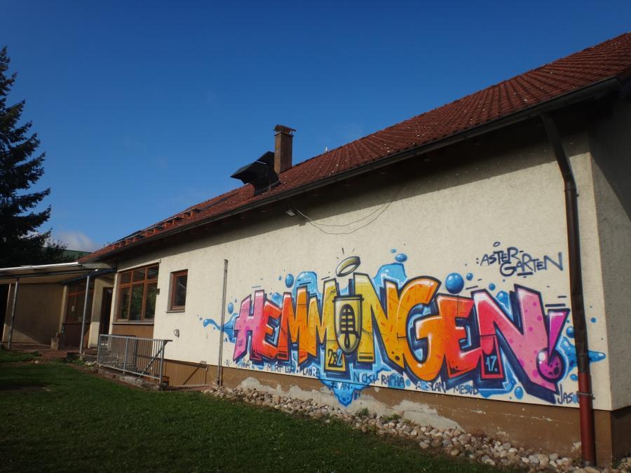 Astergarten - Neues Graffiti Gartenseite 2017