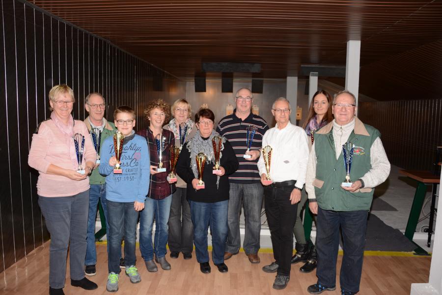 Die Sieger des Damen u. Herrenpokalschießens 2015