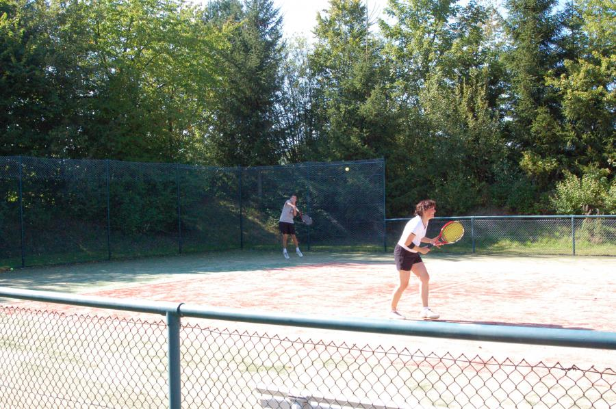 Tennismatch Doppel