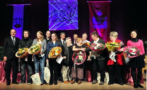 """Foto: Preisträger des 10. Literatur-Nachwuchs-Preises """"Holzhäuser Heckethaler"""""""