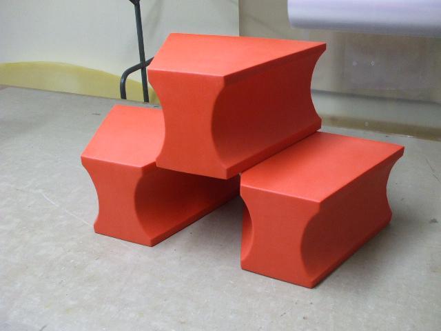 3 Stück Spreizkeile 300 x 370 x 200 mm, oberflächenvergütet, abwaschbar