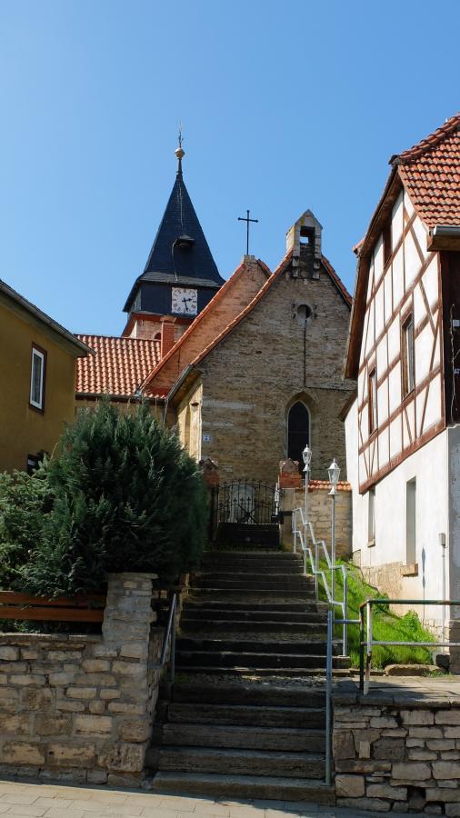 """Blick zur Kirche """"St. Anna"""""""