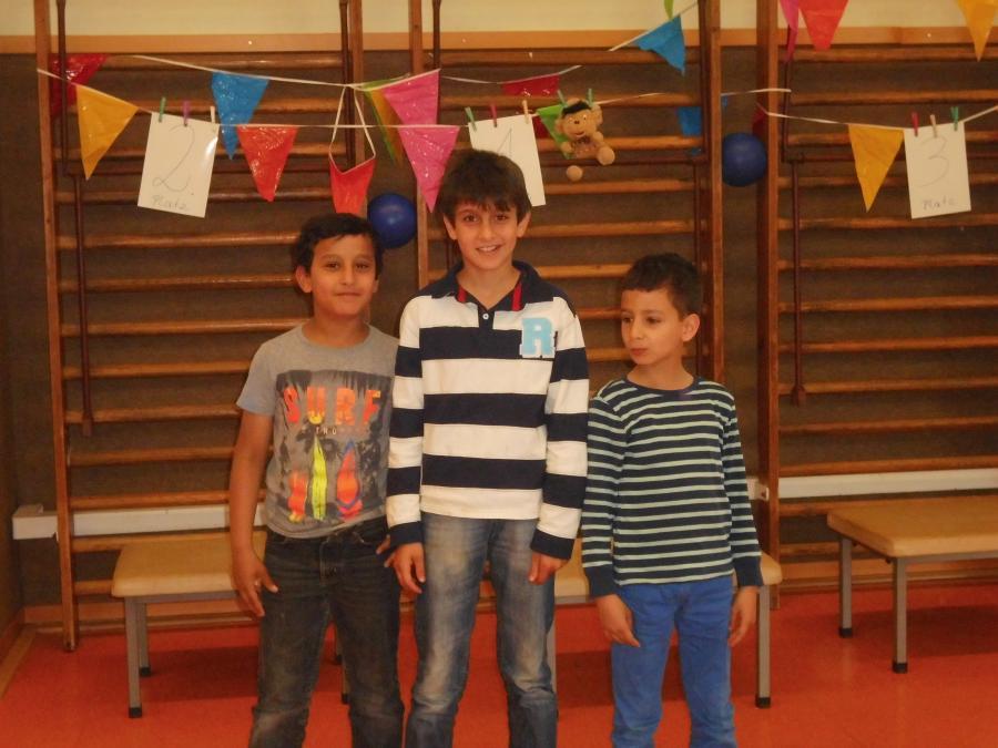 Auszeichnung für unsere Flüchtlinge aus den Klassen 1 - 3