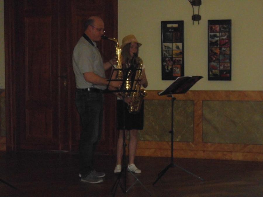 Auch das gab es bei uns: Ein Duett am Saxophon.