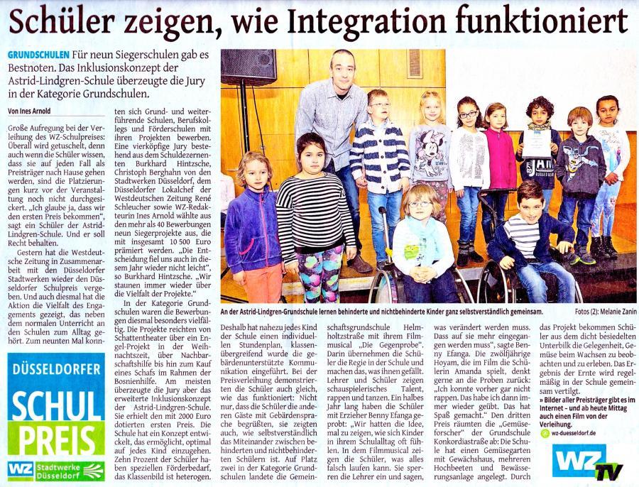 Düsseldorfer Schulpreis Artikel 06. April 2016