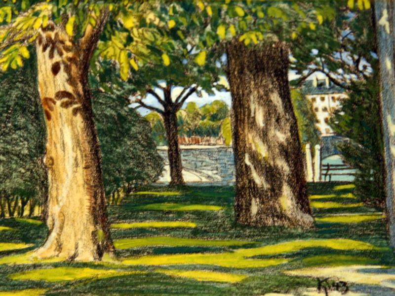 Durchblick im Stadtgarten