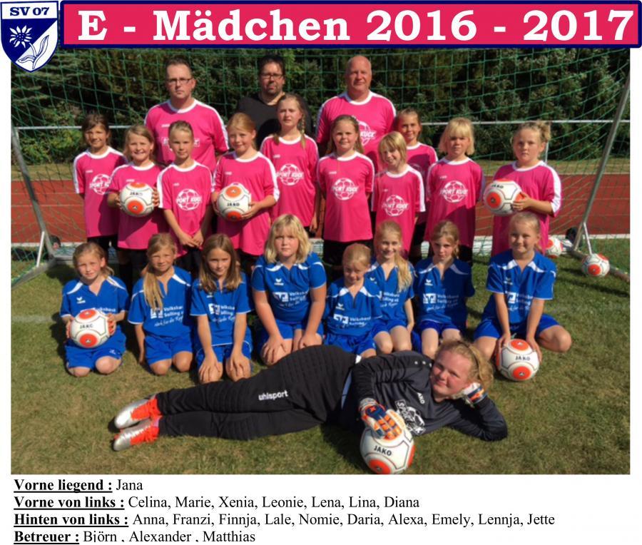 E-Mädchen 2016 - 2017