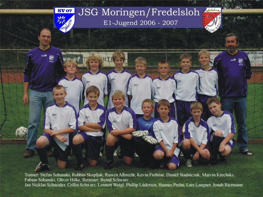 E1-Jugend 2006 - 2007