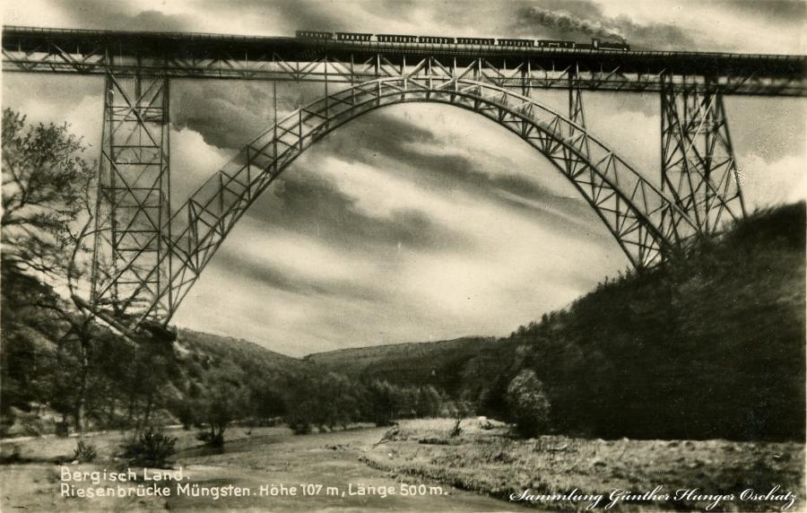 Bergisches Land Riesenbrücke Müngsten 1930