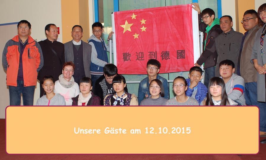Am 12.10.2015 empfingen wir unsere chinesischen Gäste.
