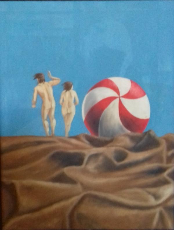 Strand II1987 Öl auf Hartfaser58 x 78 cm