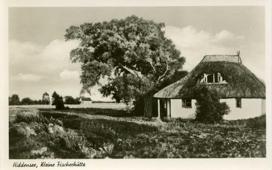 Hiddensee  Kleine Fischerhütte