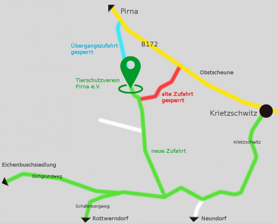 Anfahrt Zufahrt Karte