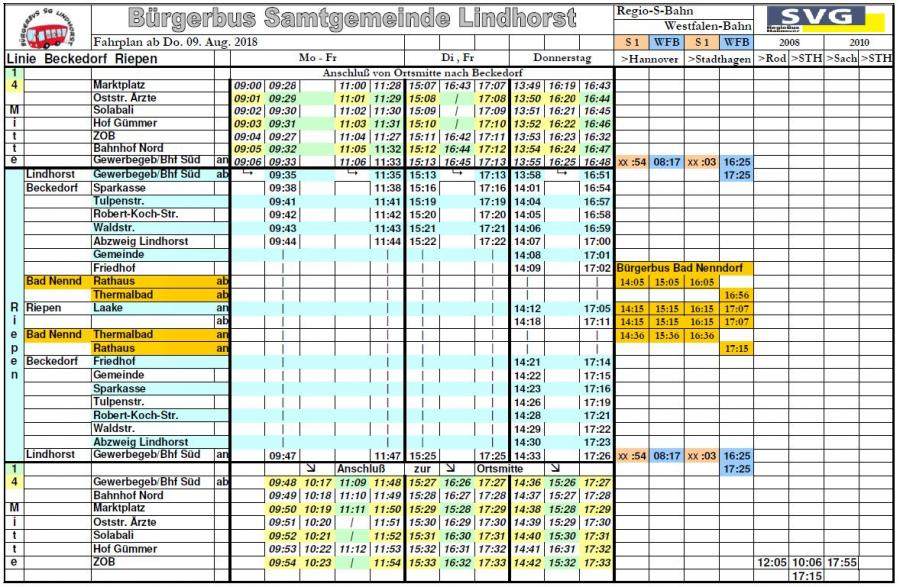 Fahrplan ab 09.08.2018 IV