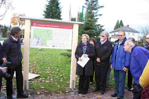 Foto: Einweihung des Eco Pfades Bergbau Holzhausen Reinhardswald