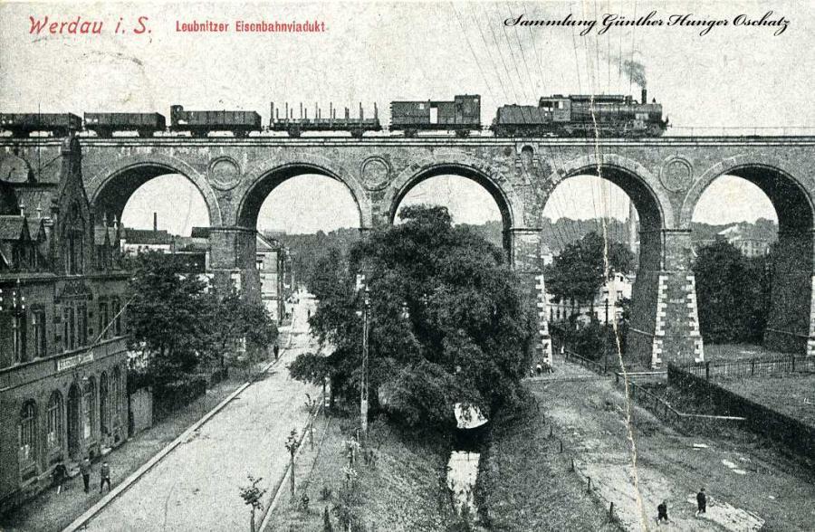 Werdau i. S. Leubnitzer Eisenbahnviadukt 1921