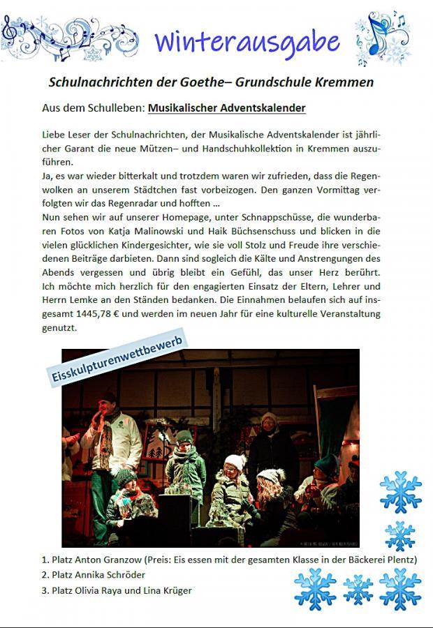 Schulnachrichten Winter 18/1