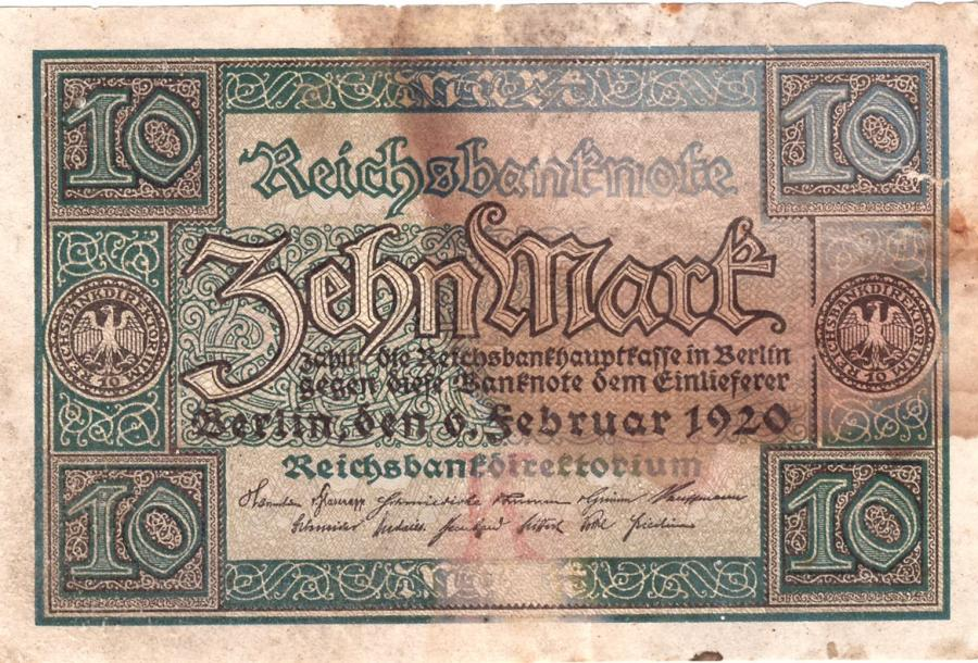 Reichsbanknote vom 6. Februar 1920