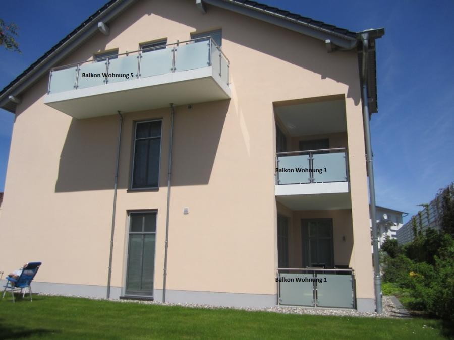 Haus Ansicht Balkon 1-3-5
