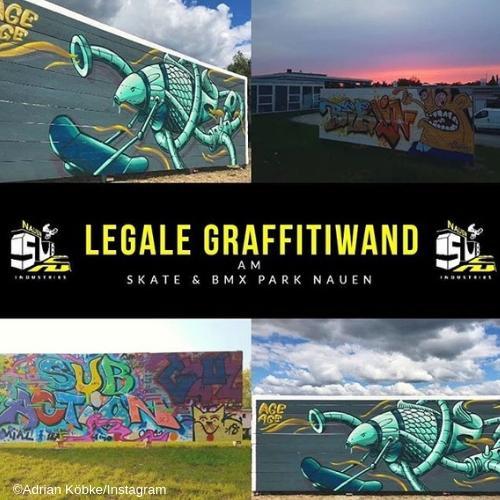 Freie Graffiti-Wand (SUB Nauen)